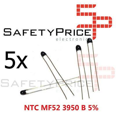 5x Termistor NTC 3950 B 10K 5% Resistencia Térmica Sensor MF52 MF52AT