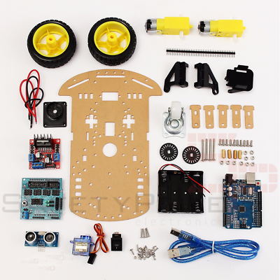 Kit chasis coche robot inteligente 2wd ultrasonidos