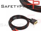 Cable Adaptador HDMI Macho a DVI 24+1 Macho 1,5m Conectores Dorados REF2195