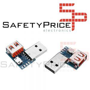 Placa adaptadora USB Micro USB a USB Conector hembra Macho a hembra 4P