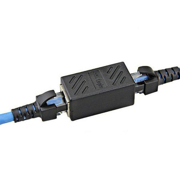 1x Adaptador Conector Empalme RJ45 Hembra a Hembra cat7/6/5e 8p8c