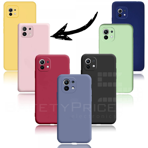 Funda Carcasa Silicona Gel TPU Lisa Para Xiaomi Mi 11 5G 6.81 Rosa