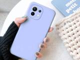 Funda Carcasa Silicona Gel TPU Lisa Para Xiaomi Mi 11 5G 6.81 Morado claro