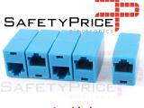 1x Adaptador Conector Empalme RJ45 Hembra a Hembra 8p8c CAT5/cat5e Azul