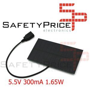 Mini panel solar 1.65W 5V