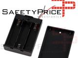 Portapilas 3xAAA 4,5v con tapa e interruptor 3x AA P332