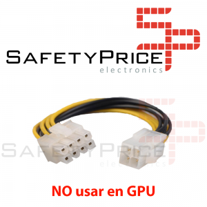Cable adaptador fuente alimentacion CPU ATX 4 pin Macho a 8 pin Hembra REF2235