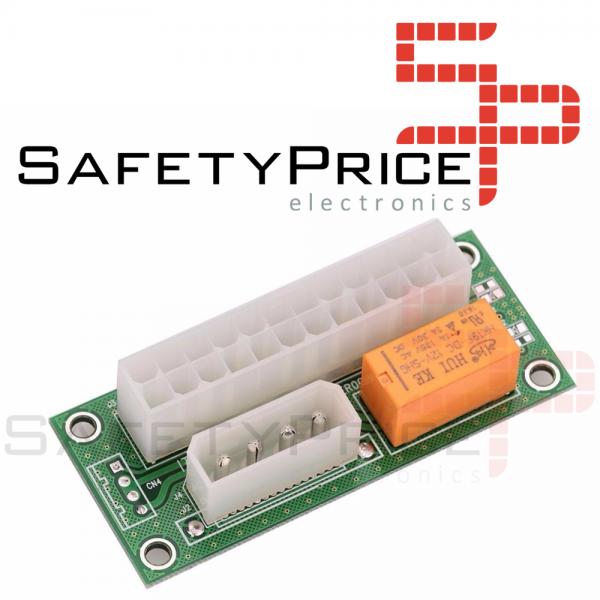 ADD2PSU ATX 24 Pin Conector Adaptador Fuente alimentacion doble para multiples PSU 4 pin REF2237