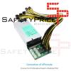Cable alimentacion 6 pin macho PCI-e a 8 pin (6 + 2) macho PCI-e a GPU 50CM