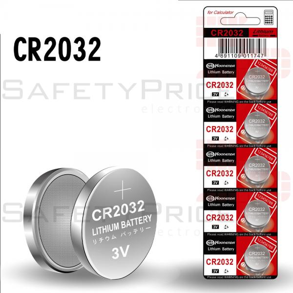 5x Pila de boton bateria original Litio CR2032 3V Koonenda