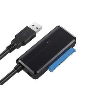 """Cable adaptador de USB 3.0 a SATA 2.5 / 3.5"""" Conector Jack 12V DC 2A"""